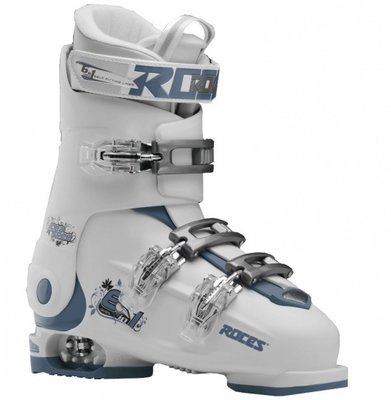 Roces Idea Up skischoen - White/Teal (maat 30-35)