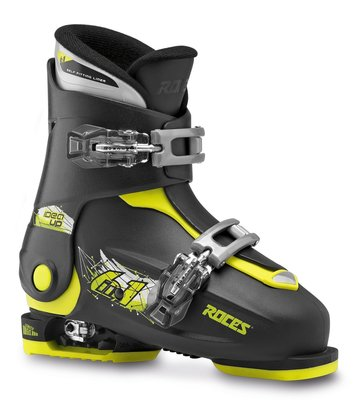Roces Idea UP skischoen - Black-Lime (maat 30-35)