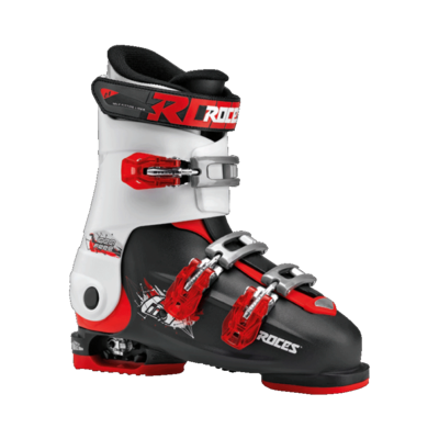 Roces Idea Free skischoen - Black-White-Red (maat 35-40)