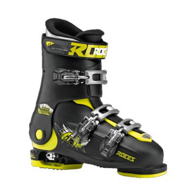 Roces Idea Free skischoen - Black-Lime (maat 35-40)