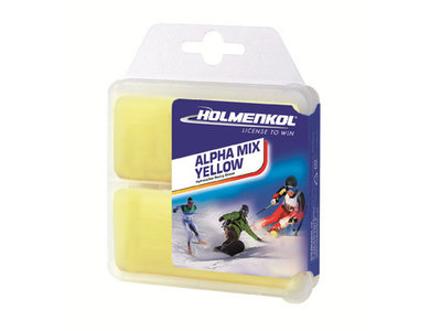 Holmenkol Alphamix yellow World Cup wax 2x 35 gram [24104]
